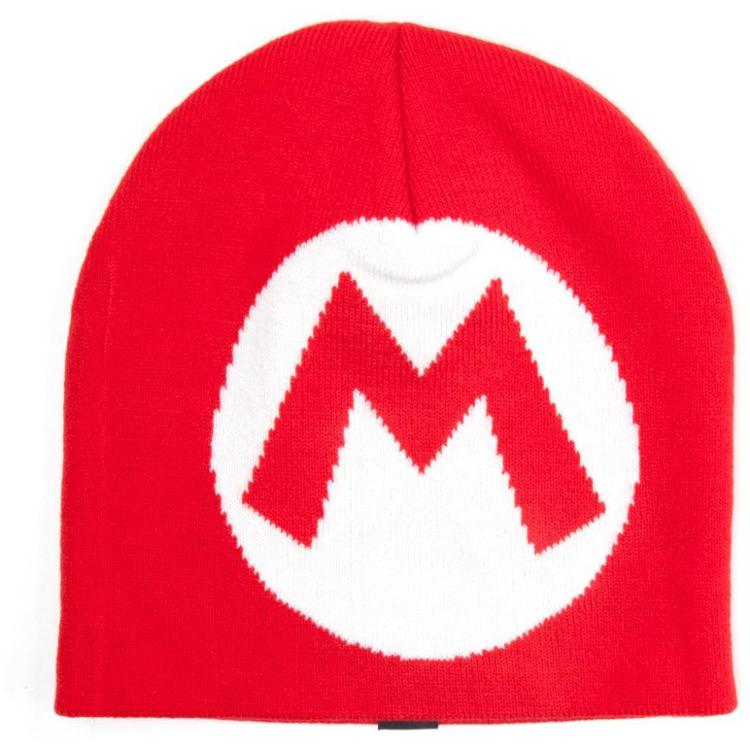Nintendo Knitted Red M logo Beanie, Mario