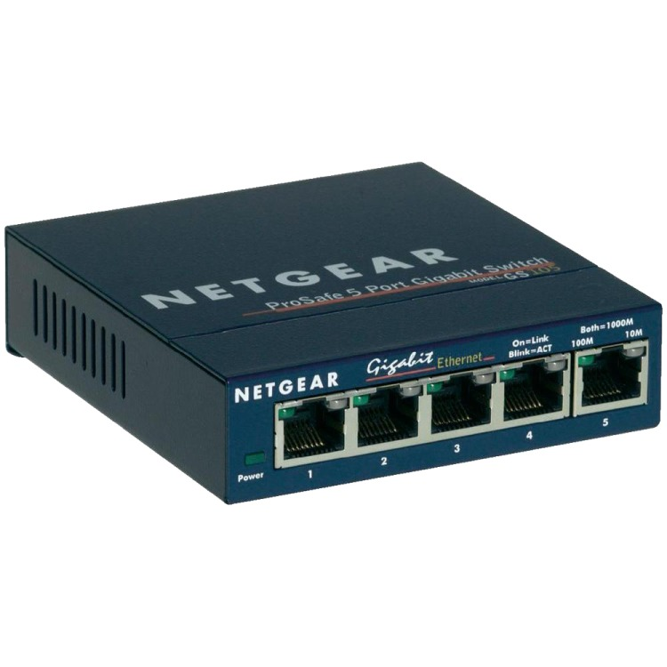 NETGEAR Gigabit Ethernet switch Prosafe GS105 5 Poorts