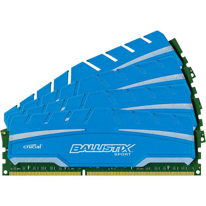 32GB Kit (8GBx4) DDR3 1866 MT/s (PC3-14900) CL10 @1.5V Ballistix Sport XT UDIMM240pin