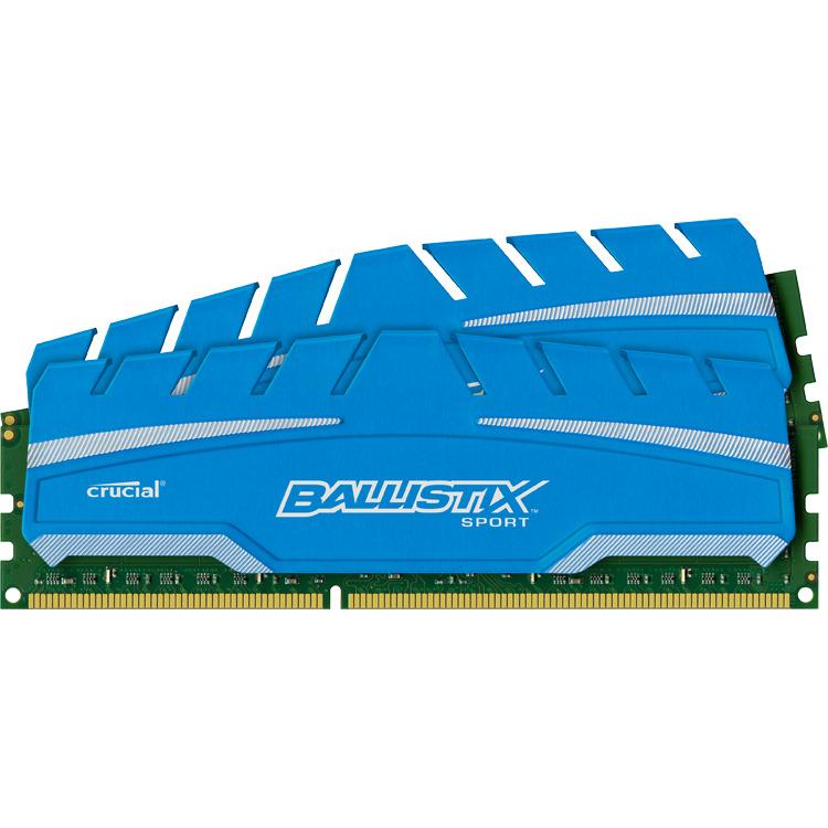 16GB Kit (8GBx2) DDR3 1866 MT/s (PC3-14900) CL10 @1.5V Ballistix Sport XT UDIMM240pin