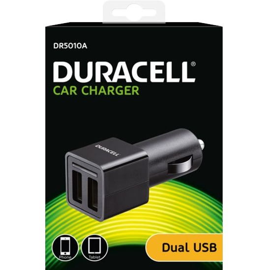 Duracell 2,4A Twin Autolader