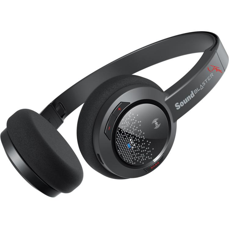 Image of Bluetooth Koptelefoon Sound Blaster On Ear Headset, NFC Zwart