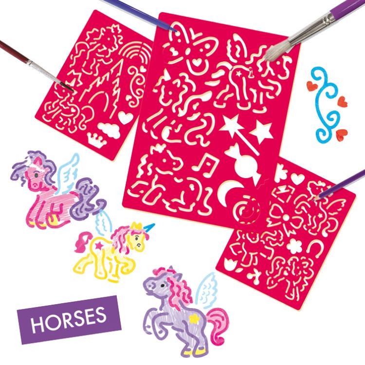 SES Sjablonen paarden