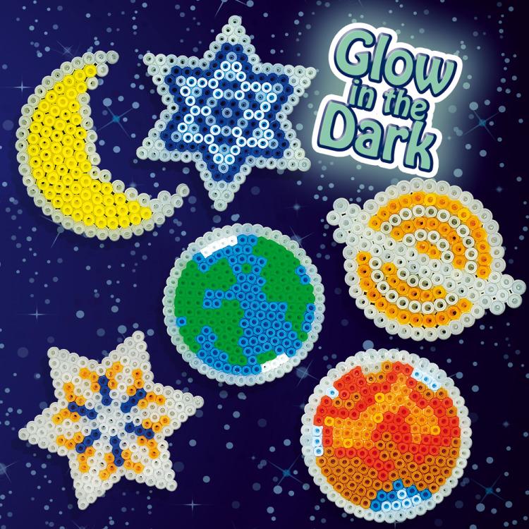 SES Strijkkralenset sterren glow in the dark