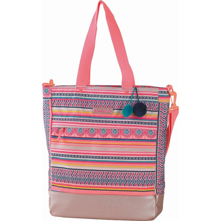 Image of Shopper Accessorize pink stripe 40x32x11 cm