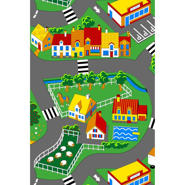Vloerkleed Little village klein
