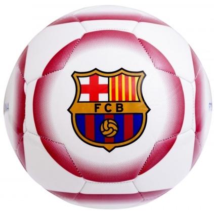 Image of Bal Barcelona Leer Groot Wit Crest