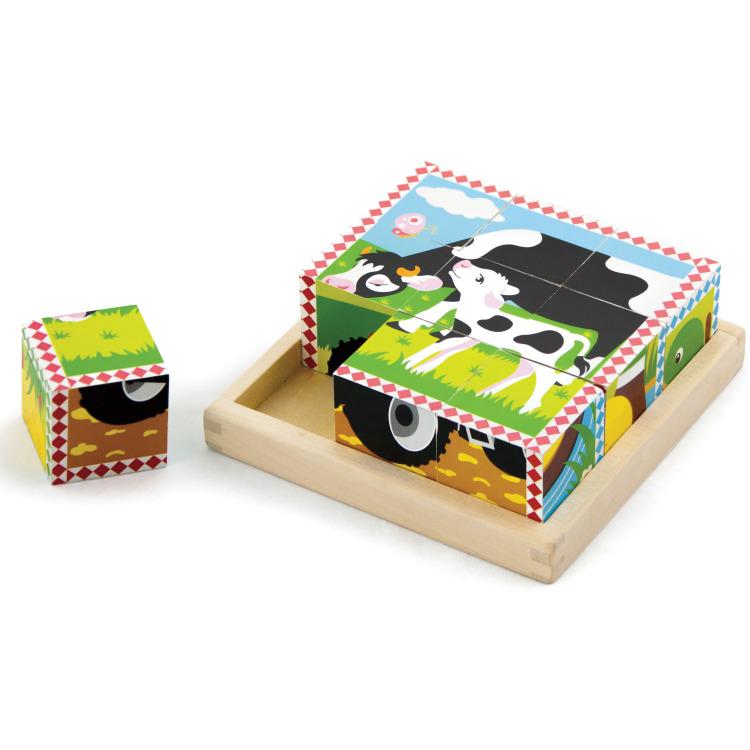 Puzzel New Classic Toys: Boerderij 16x16x5 Cm