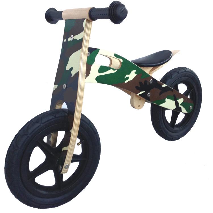 Image of BU Toys Loopfiets JB Army 56x17x32 cm