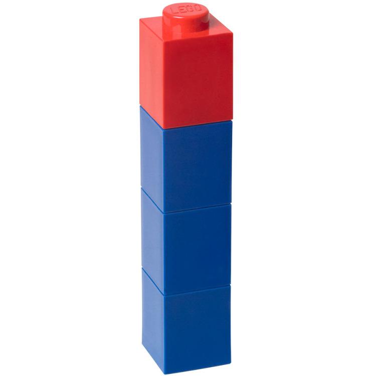 Drinkbeker Lego vierkant: 400 ml blauw -
