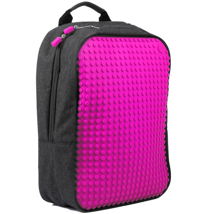 Backpack 01 - 240 large pixels - black/fuchsia