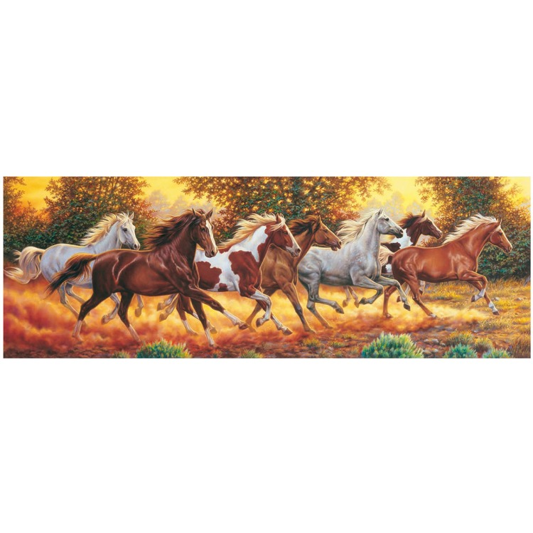Puzzel 1000 Panorama Horses