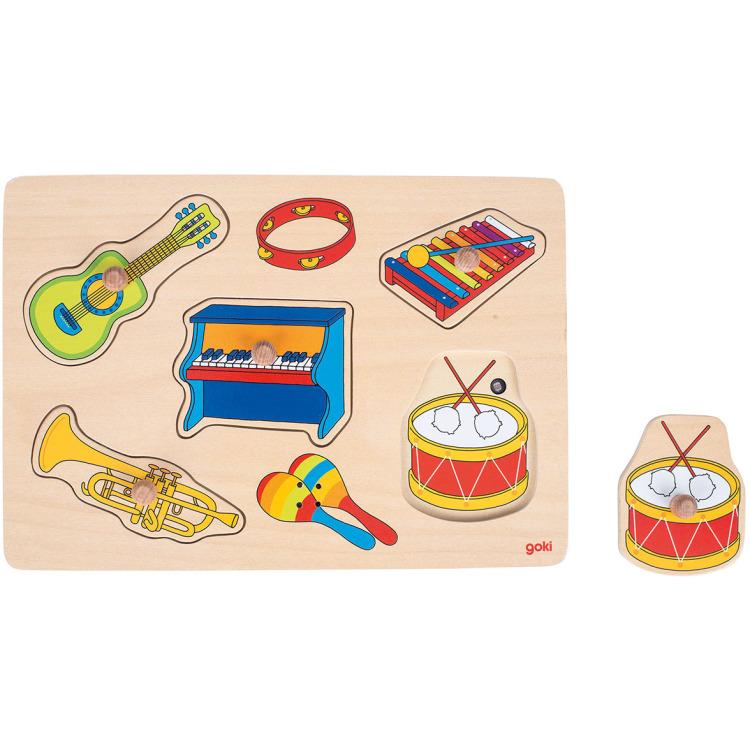 Noppenpuzzel Muziekinstrumenten Met Geluid, 5st.