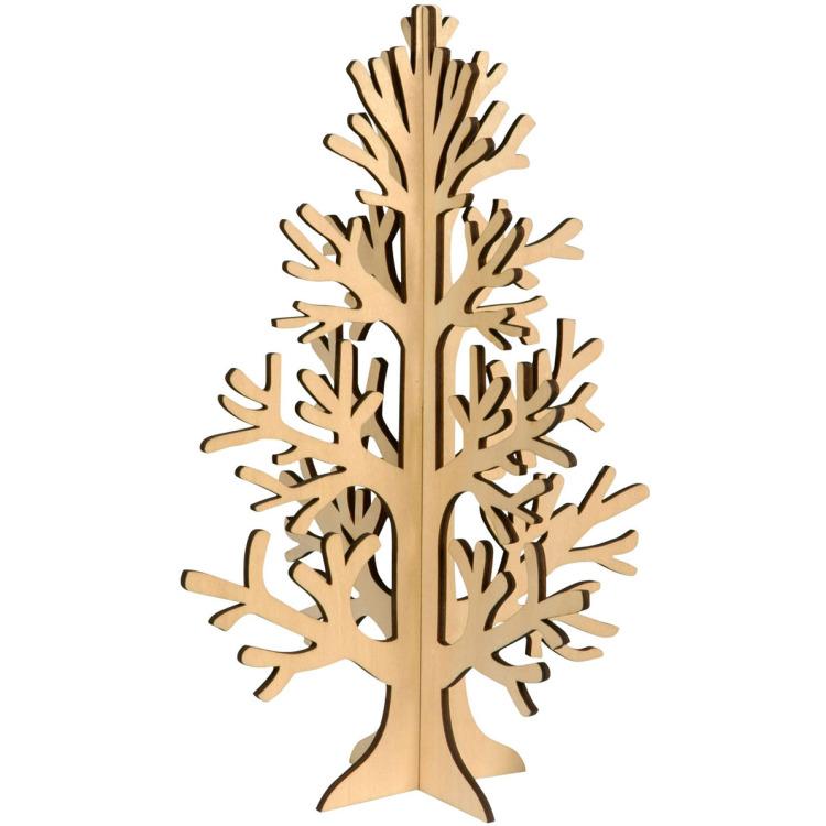 Kerstboom Hout 3d