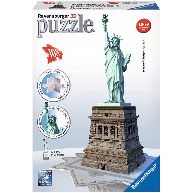Ravensburger Statue of Liberty 3D puzzel (108 stukjes)