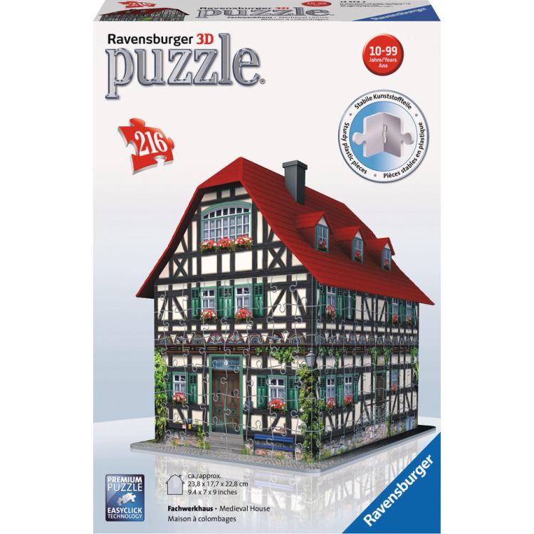 Ravensburger Middeleeuws huis puzzel 3D (216 stukjes)
