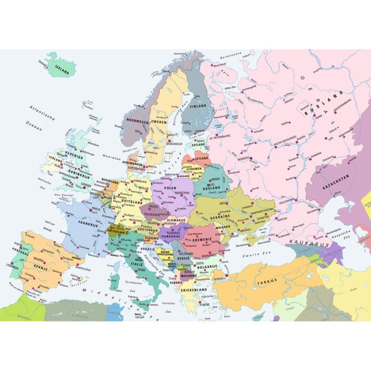 Ravensburger puzzel kaart van Europa 300 stukjes