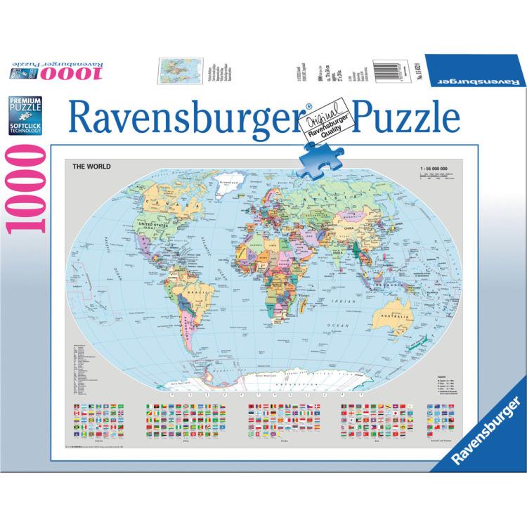 Staatkundige Wereldkaart Puzzel 1000 St Ravensburger kopen