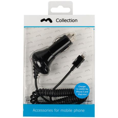 Charger 12-24V Lightning for iPhone 5 Black MFi