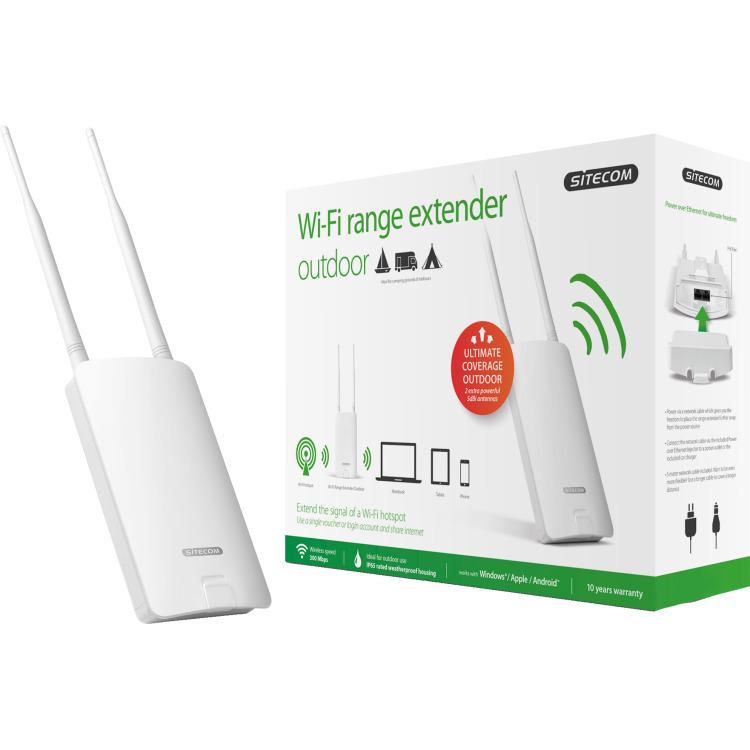 Sitecom WLX-2100 N300 Wi-Fi Outdoor Range Extender