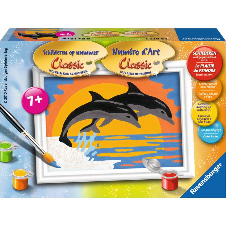 Image of Schilderen Op Nummer Classic: Dolfijnenromantiek