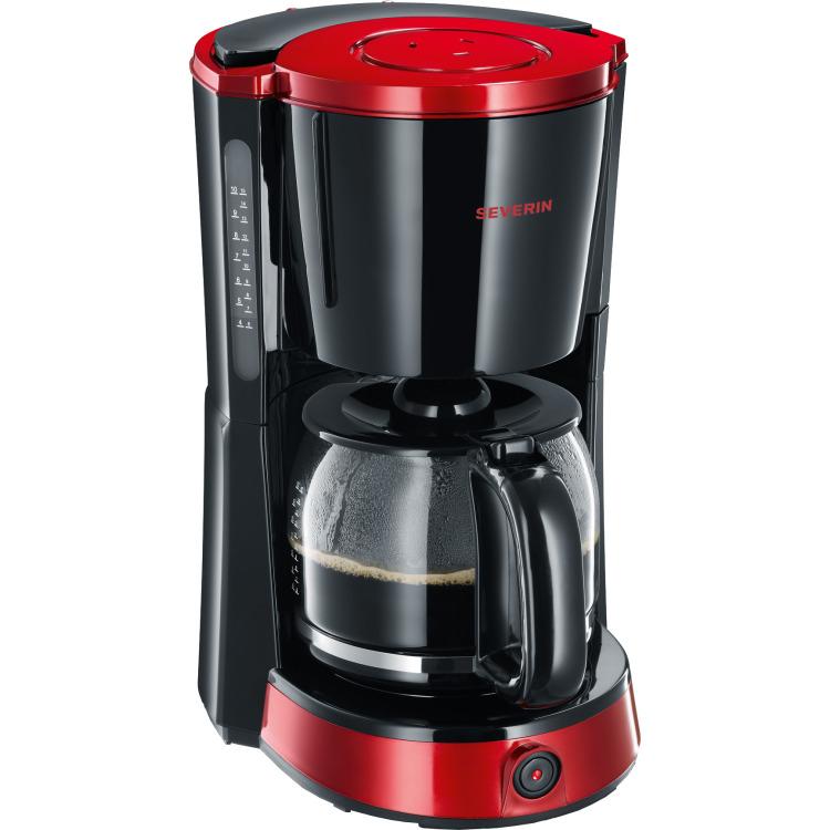 Severin KA4492 Koffiezetapparaat - zwart/rood
