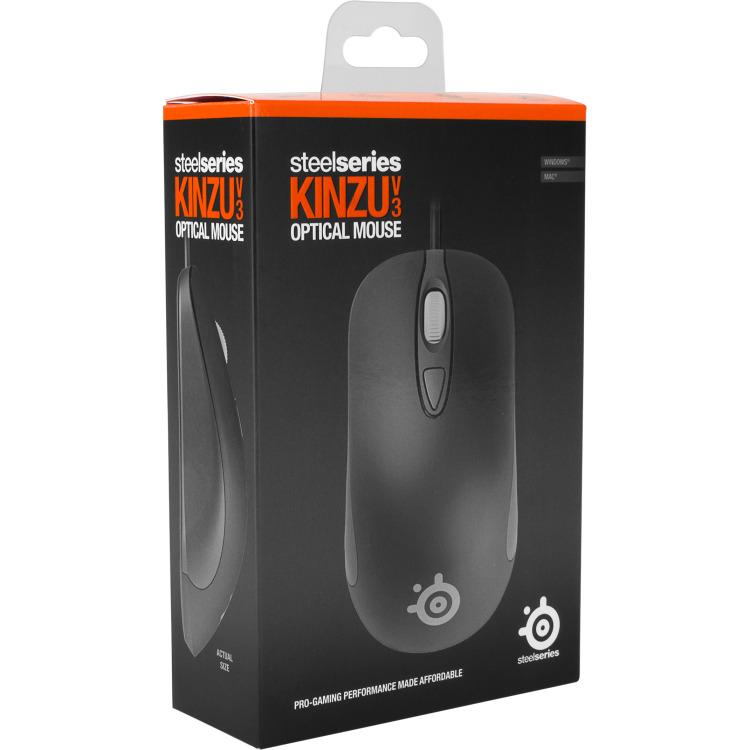 SteelSeries Kinzu V3 Wired Gaming Muis - Zwart (PC)