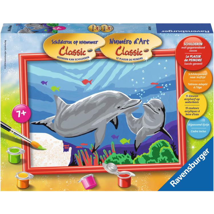 Image of Schilderen Op Nummer Classic: Dolfijnen