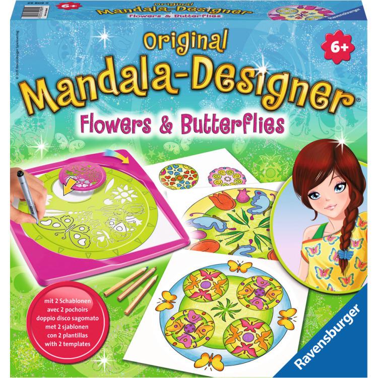 Image of 2in1 Mandala-Designer Flowers & Butterflies