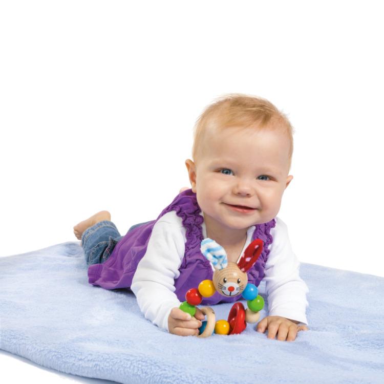 Heros Houten Baby Grijpring Konijn
