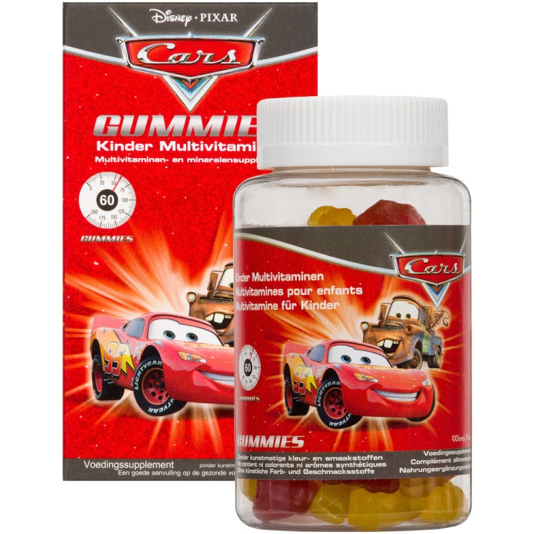 Disney Kinder Multivitaminen Cars 60stuks