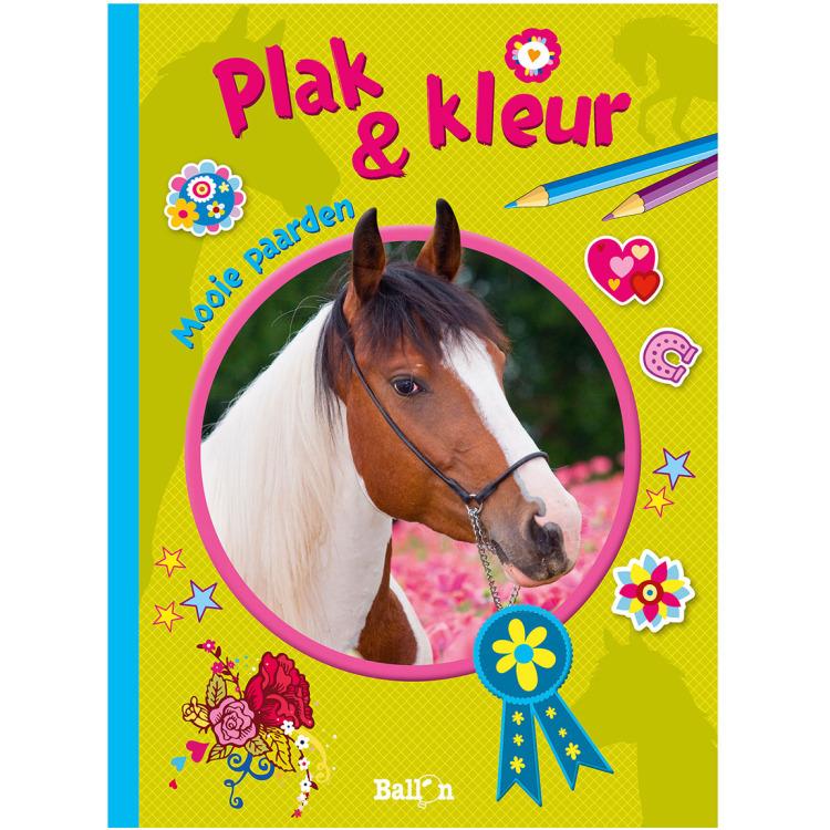 Image of Plak & Kleur - Mooie Paarden