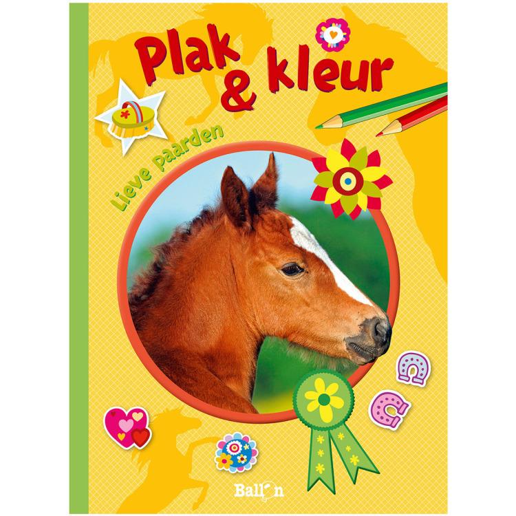Image of Plak & Kleur - Lieve Paarden