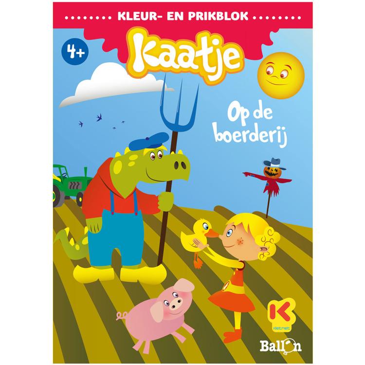 Image of Kleur- En Prikblok Kaatje Op De Boerderij