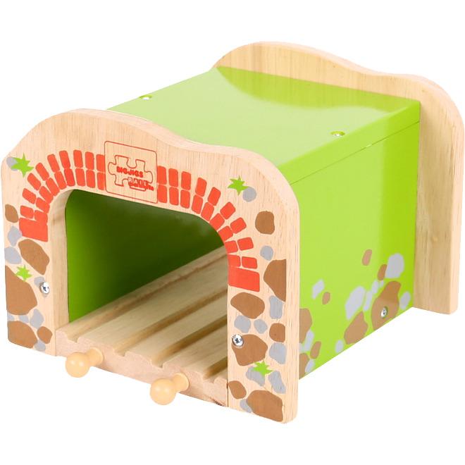 Image of Houten Rails - Dubbelspoor Tunnel