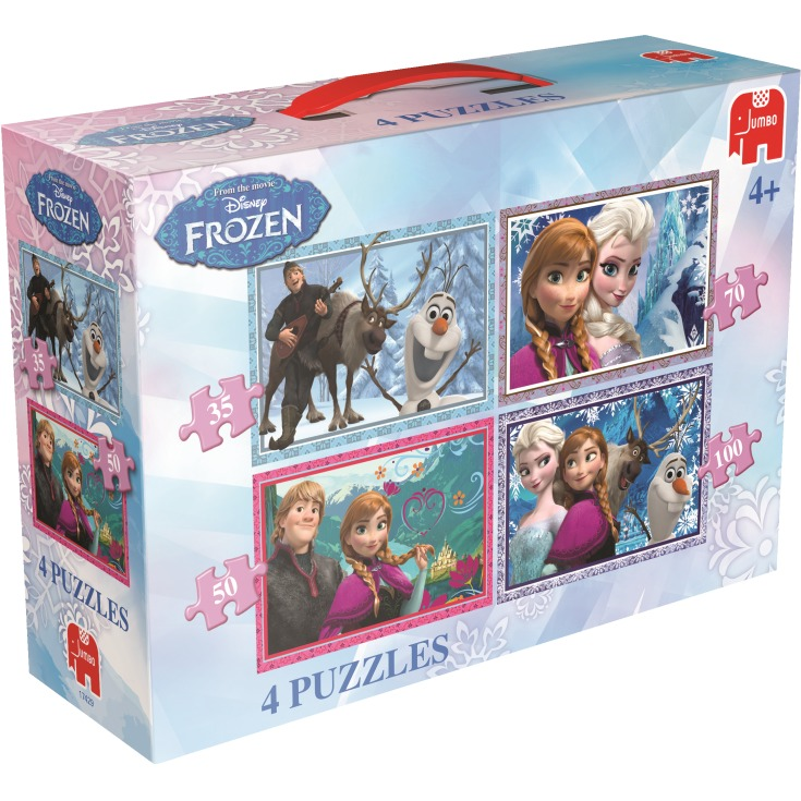 Image of Disney Frozen 4in1 Puzzels, 35+50+70+100