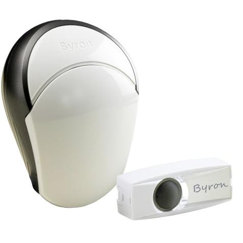 Image of Complete set Draadloze deurbel verlicht, met naambord Byron BY502E