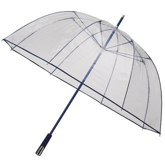 Impliva Koepel - Paraplu - Ø 111 cm - Transparant Blauw