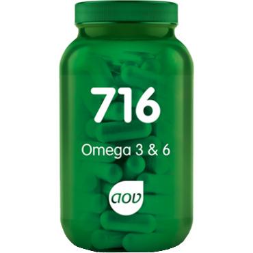 AOV Voedingssupplementen AOV 716 Omega 3 & 6 180cap