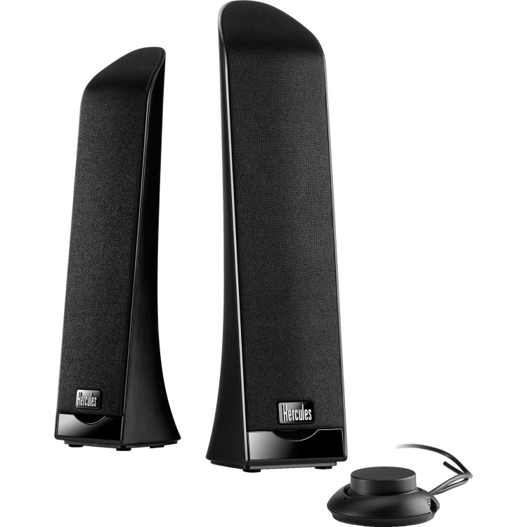 Hercules 2.0 Slim USB - 2.0 Speakerset - 2.5 Watt - Zwart