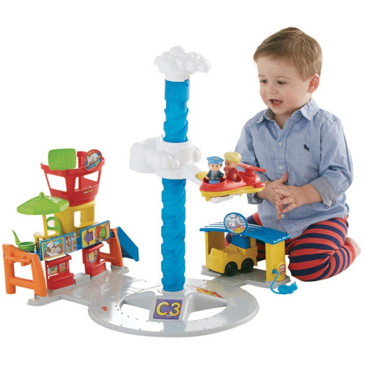 Image of Fisher Price Little People Vliegveld met Geluid