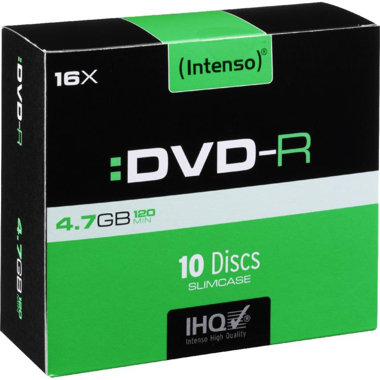 DVD-R disc 4.7 GB Intenso 4101652 10 stuks Slimcase