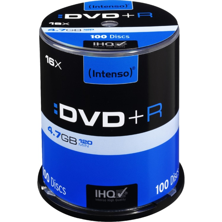 DVD+R disc 4.7 GB Intenso 4111156 100 stuks Spindel