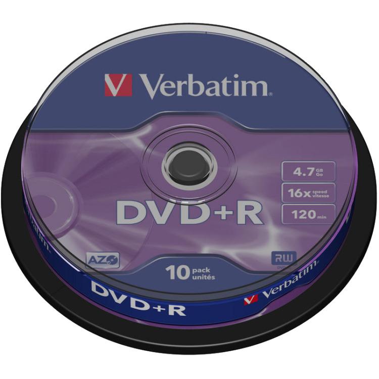 Verbatim DVD+R 43498 4.7 GB 120 min. 10 Stuks