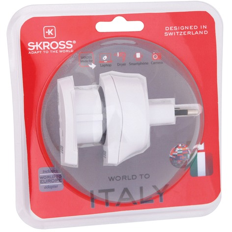 Skross Combo Travel Adapter World to Italy  Europe