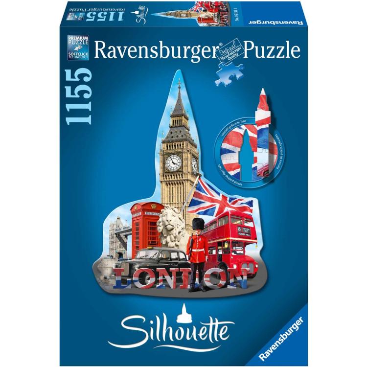 Ravensburger Silhouettepuzzel Big Ben Londen 1155 stukjes.