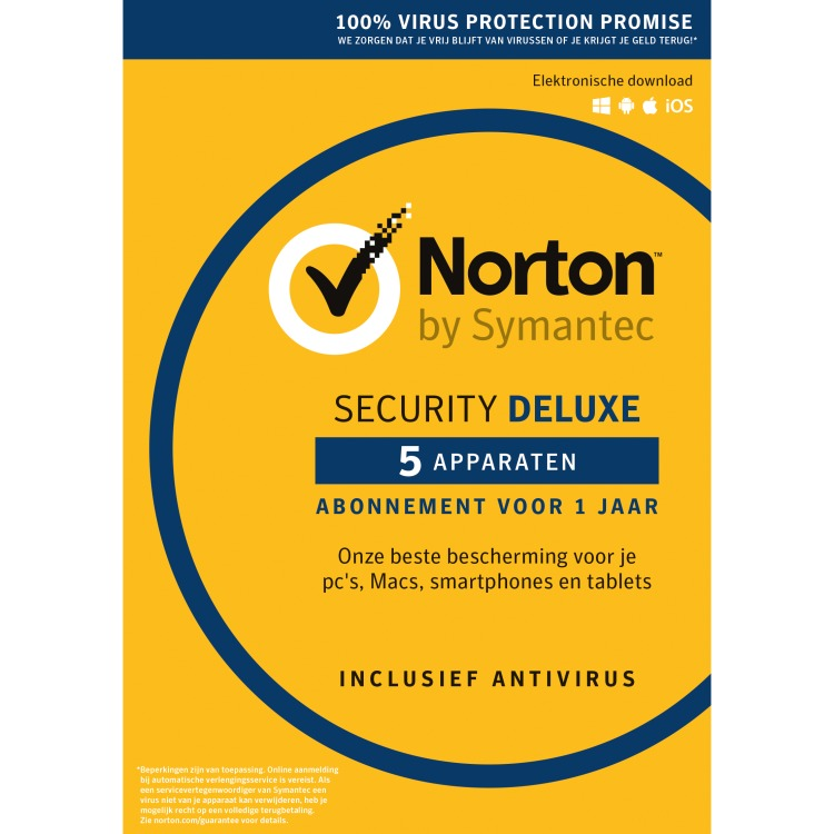 Norton Security Deluxe 3.0 (1 User-5 Devices) (dutch)