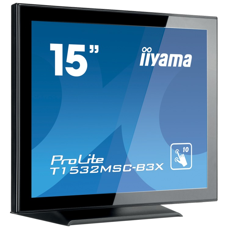 iiyama Dis 15 IIyama PLT1532MSC-B3X TOUCH 8ms,VGA,DVI,Speaker,USB (T1532MSC-B3X)