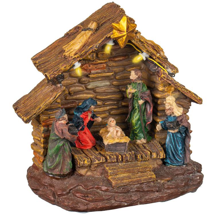 Image of Kerstkribbe met verlichting