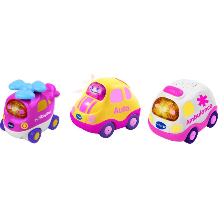 Toet toet auto 3 roze autootjes Vtech: 12+ mnd